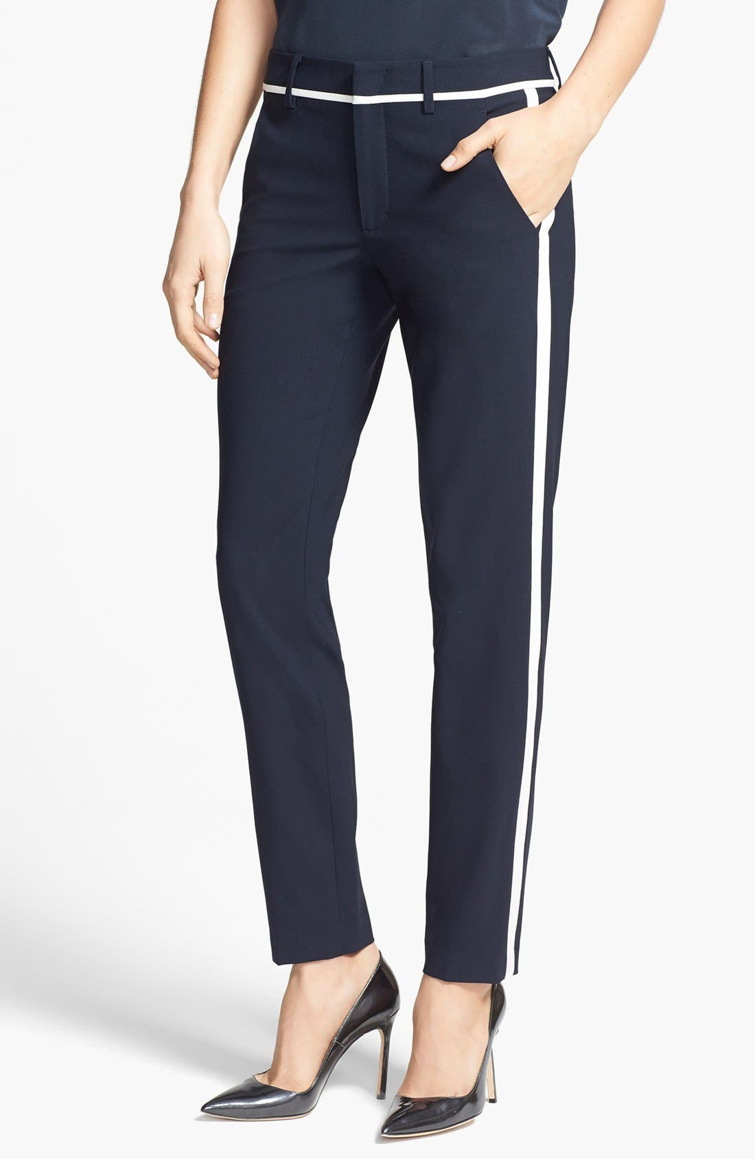 Alternate Image 1 Selected - Vince Skinny Strapping Trousers