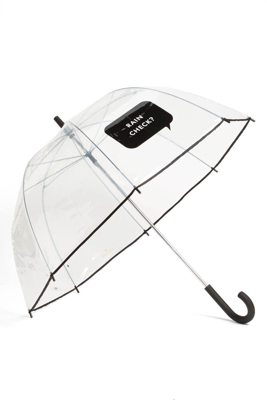 'rain check' umbrella,                         Main,                         color, Black/ White