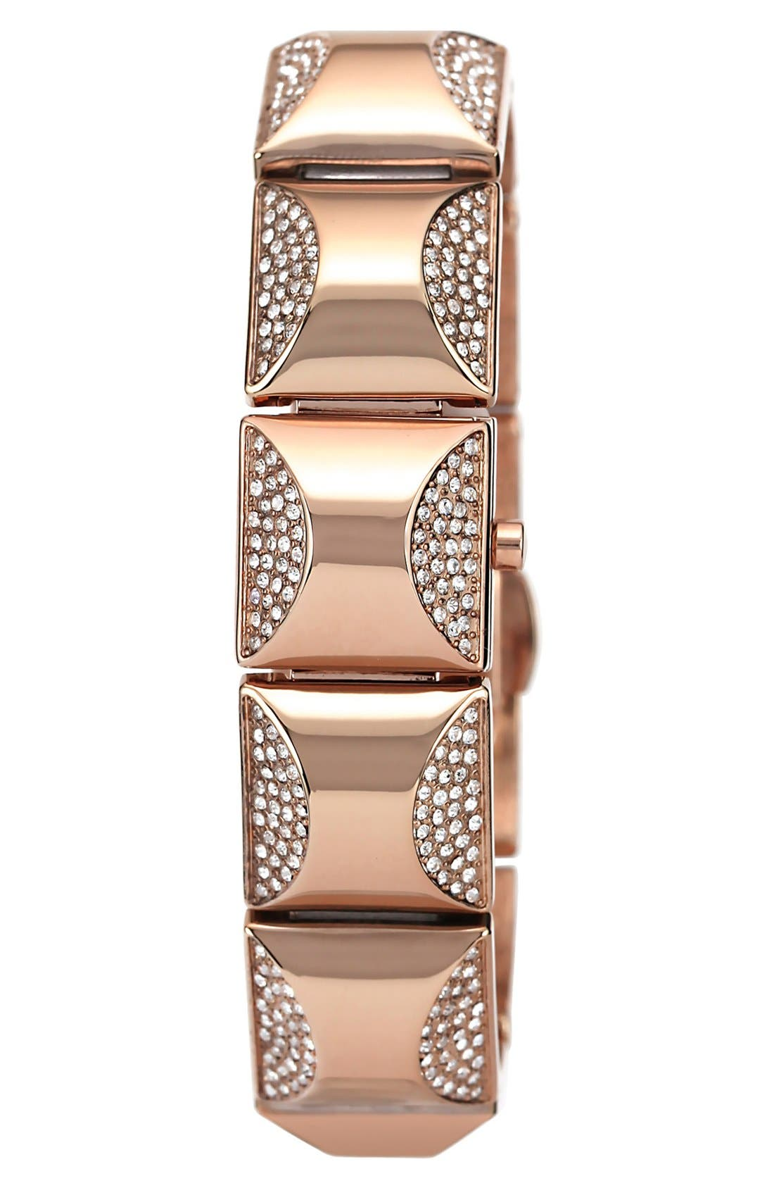 Main Image - Vince Camuto Covered Case Crystal Accent Bracelet Watch