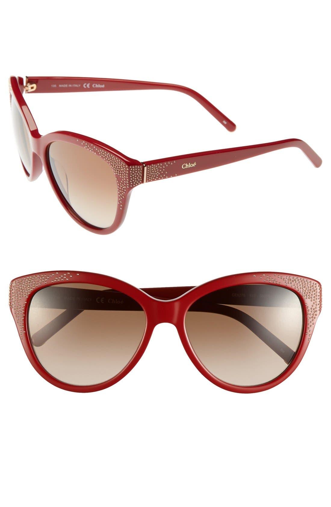 Main Image - Chloé 'Suzanna' 56mm Cat Eye Sunglasses