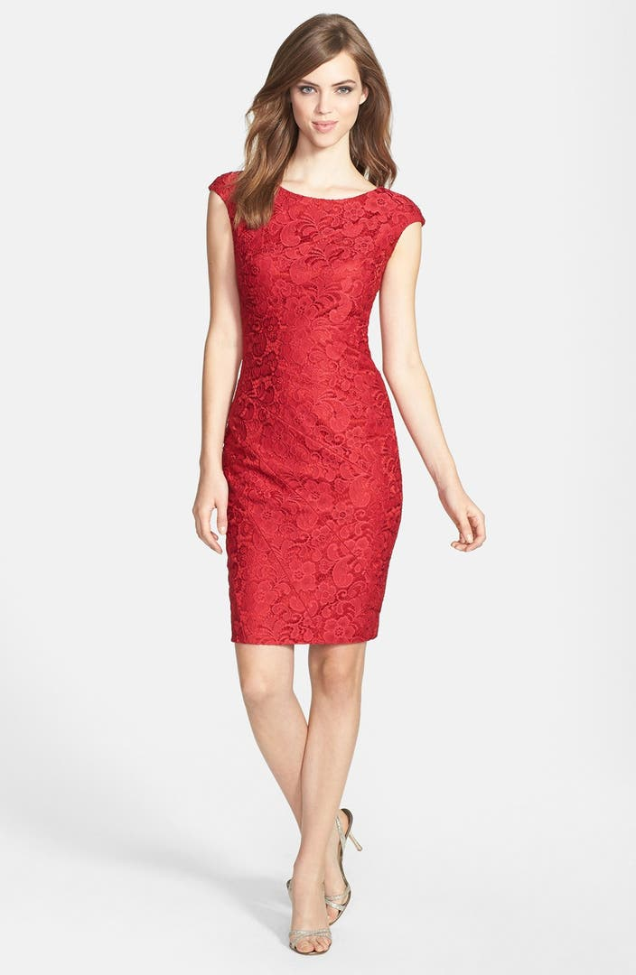 Jax Cap Sleeve Lace Sheath Dress Nordstrom