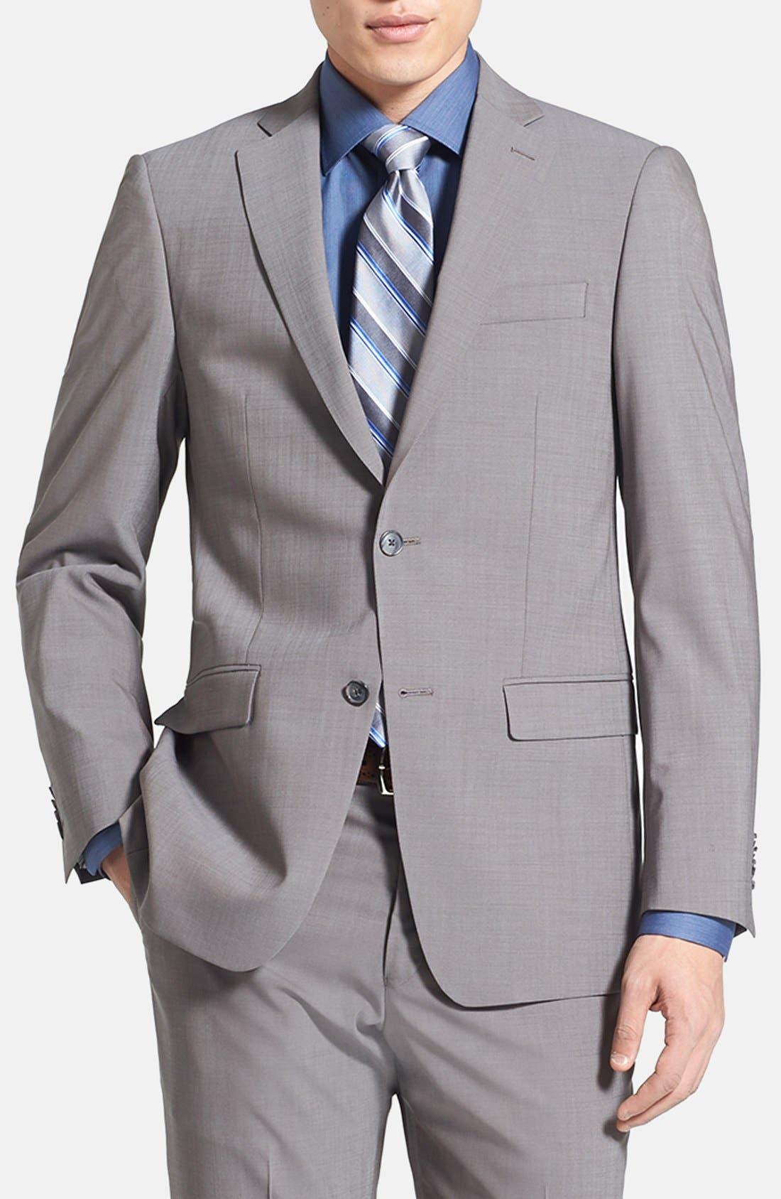 Alternate Image 3  - Michael Kors Trim Fit Stretch Wool Suit