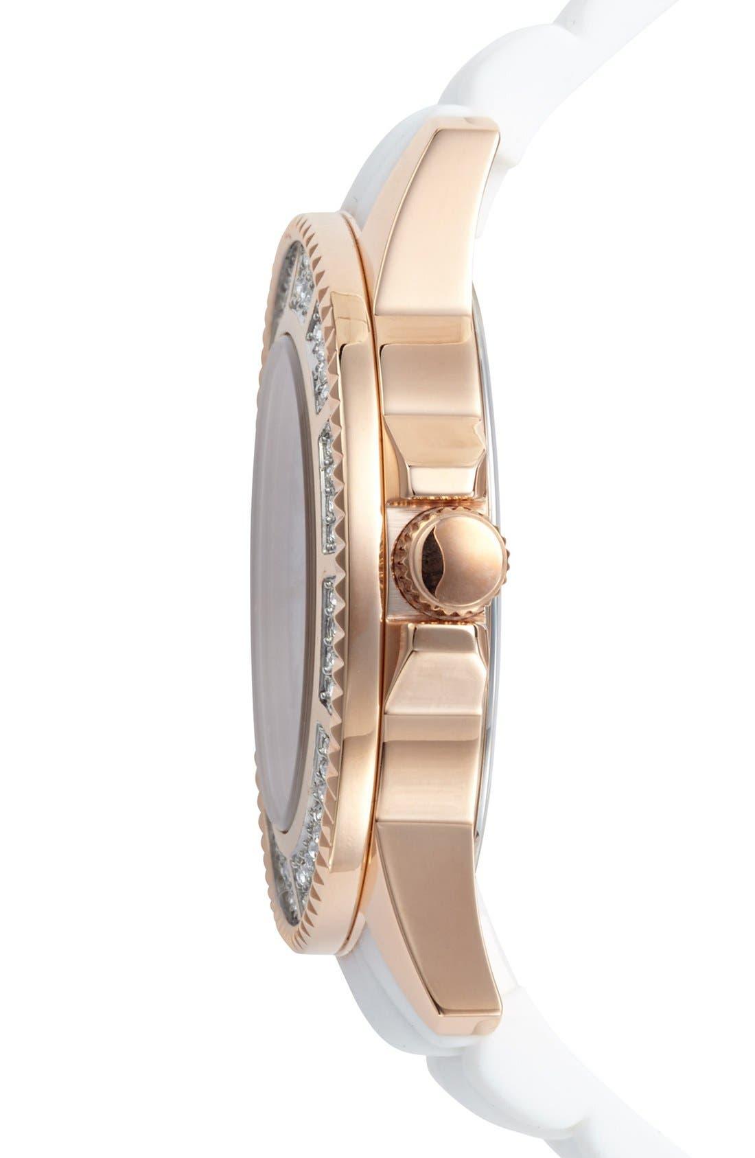 Alternate Image 3  - VERSUS by Versace 'Tokyo' Crystal Bezel Silicone Strap Watch, 42mm