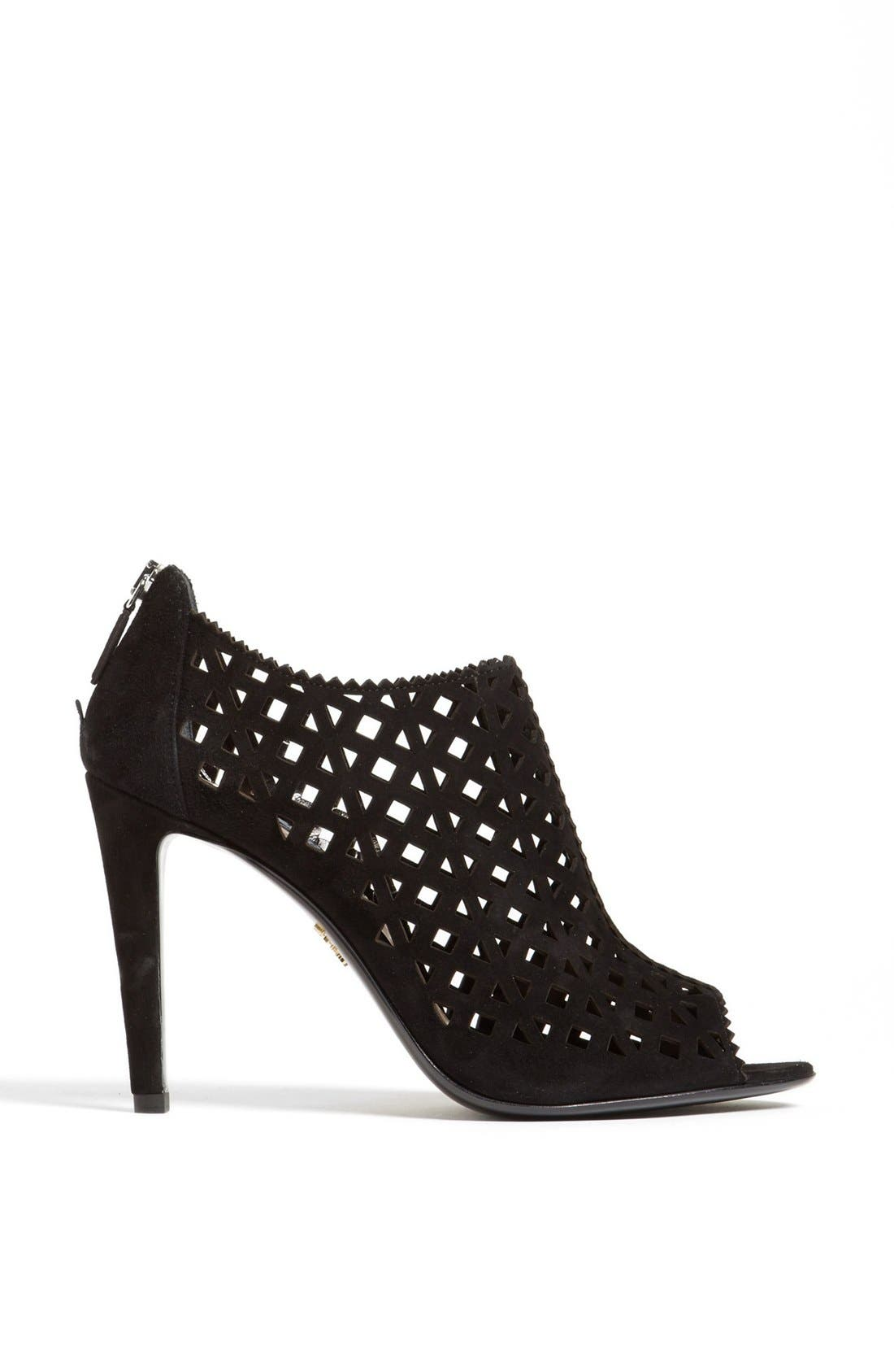 Alternate Image 4  - Prada Laser Cut Open Toe Bootie