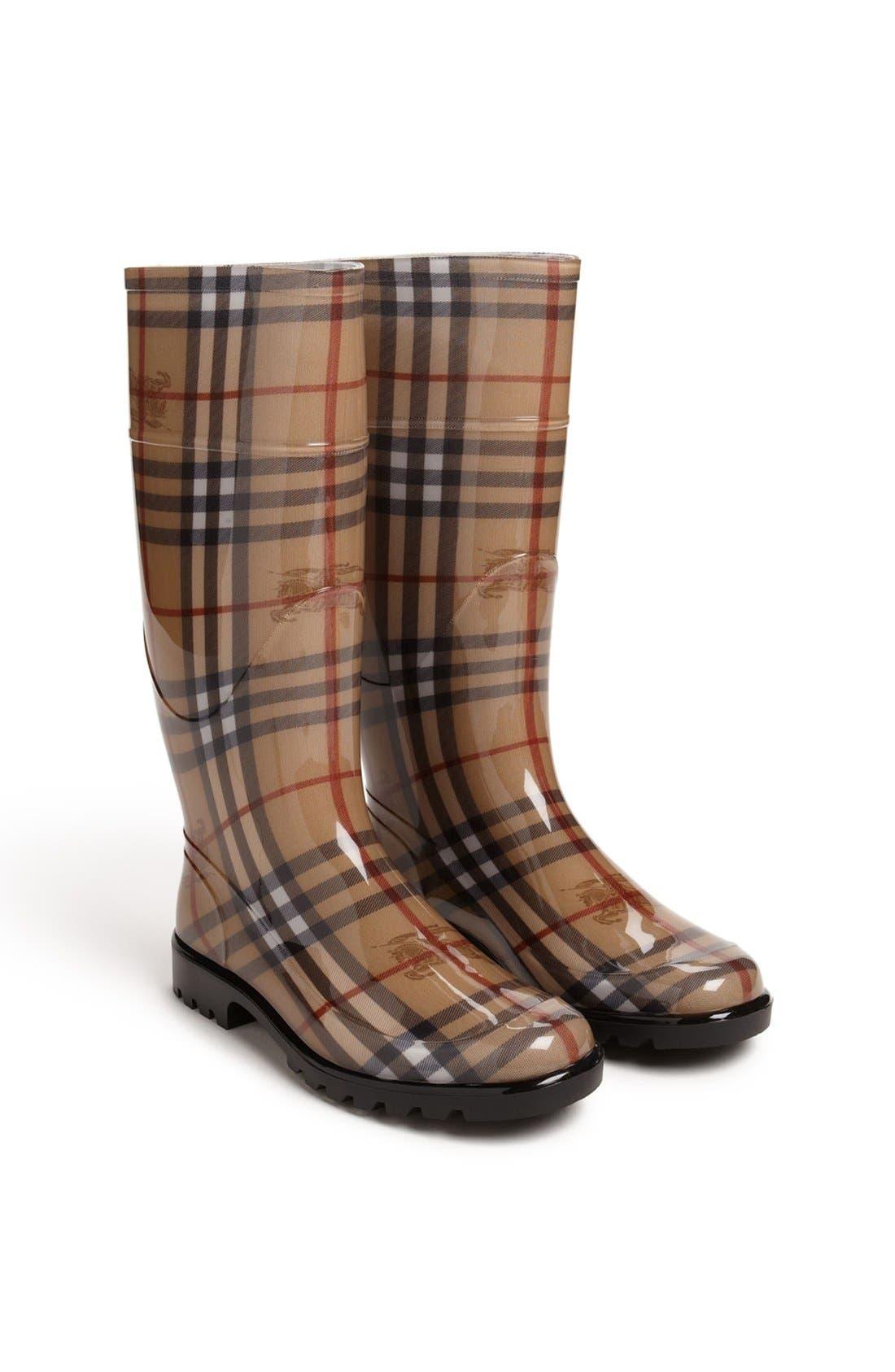 Alternate Image 2  - Burberry Tall Rain Boot (Women)