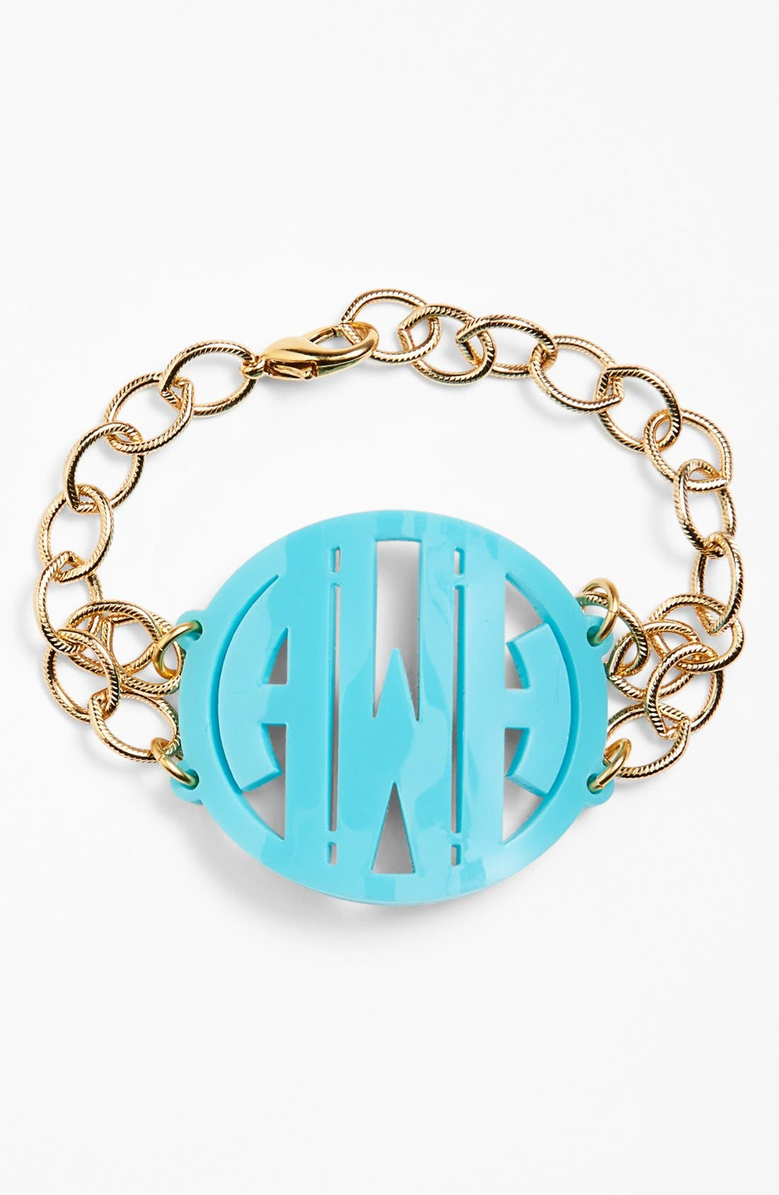 Moon and Lola 'Annabel' Large Personalized Monogram Bracelet