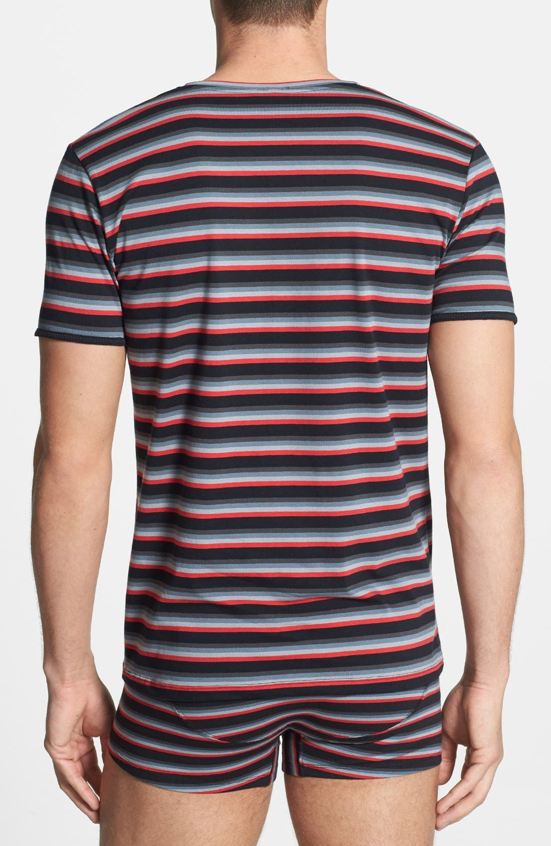 Alternate Image 2  - DIESEL® 'Michael' Striped V-Neck Undershirt