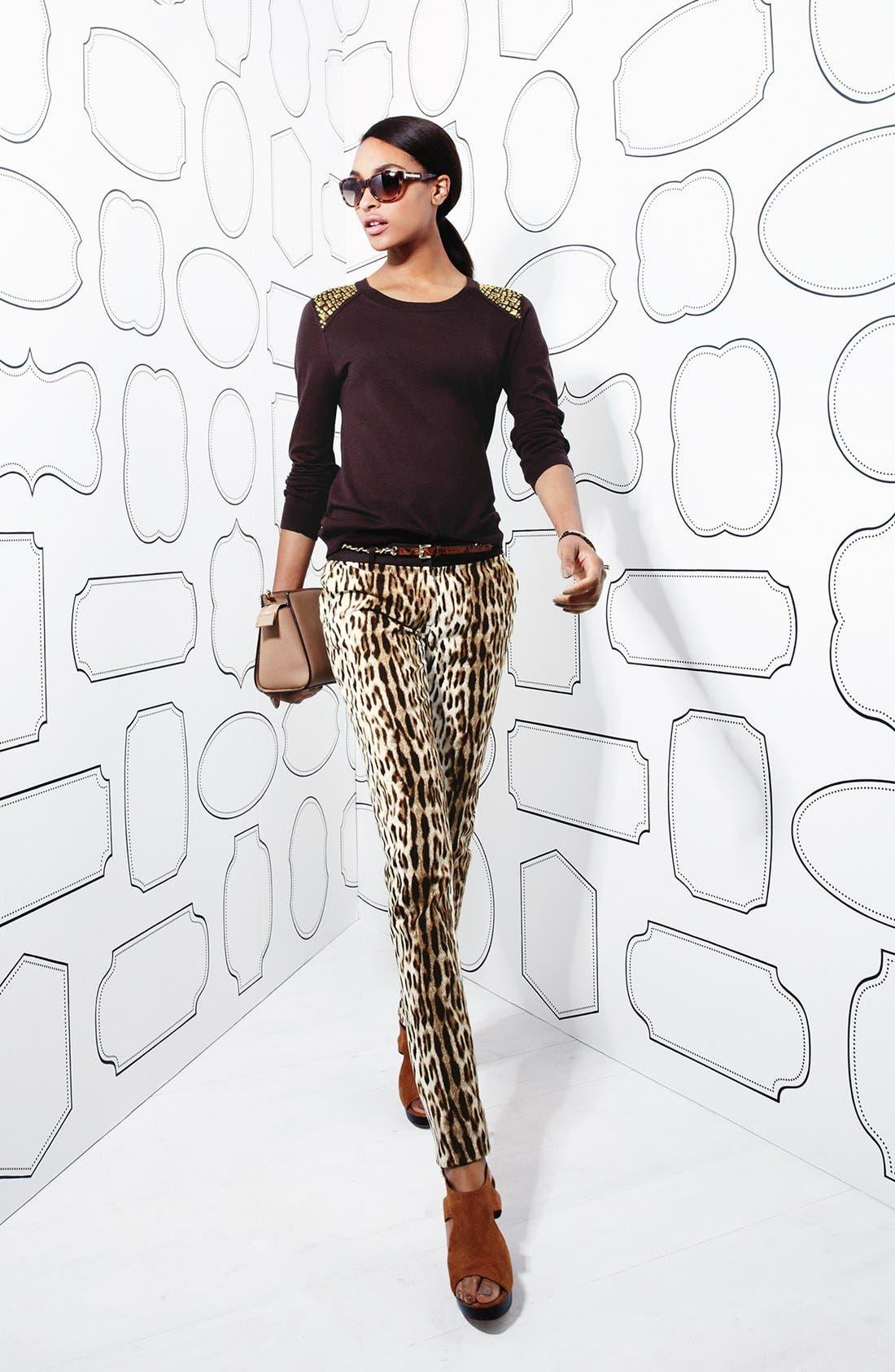 Alternate Image 5  - MICHAEL Michael Kors 'Sexy Skinny' Leopard Print Stretch Pants (Regular & Petite)
