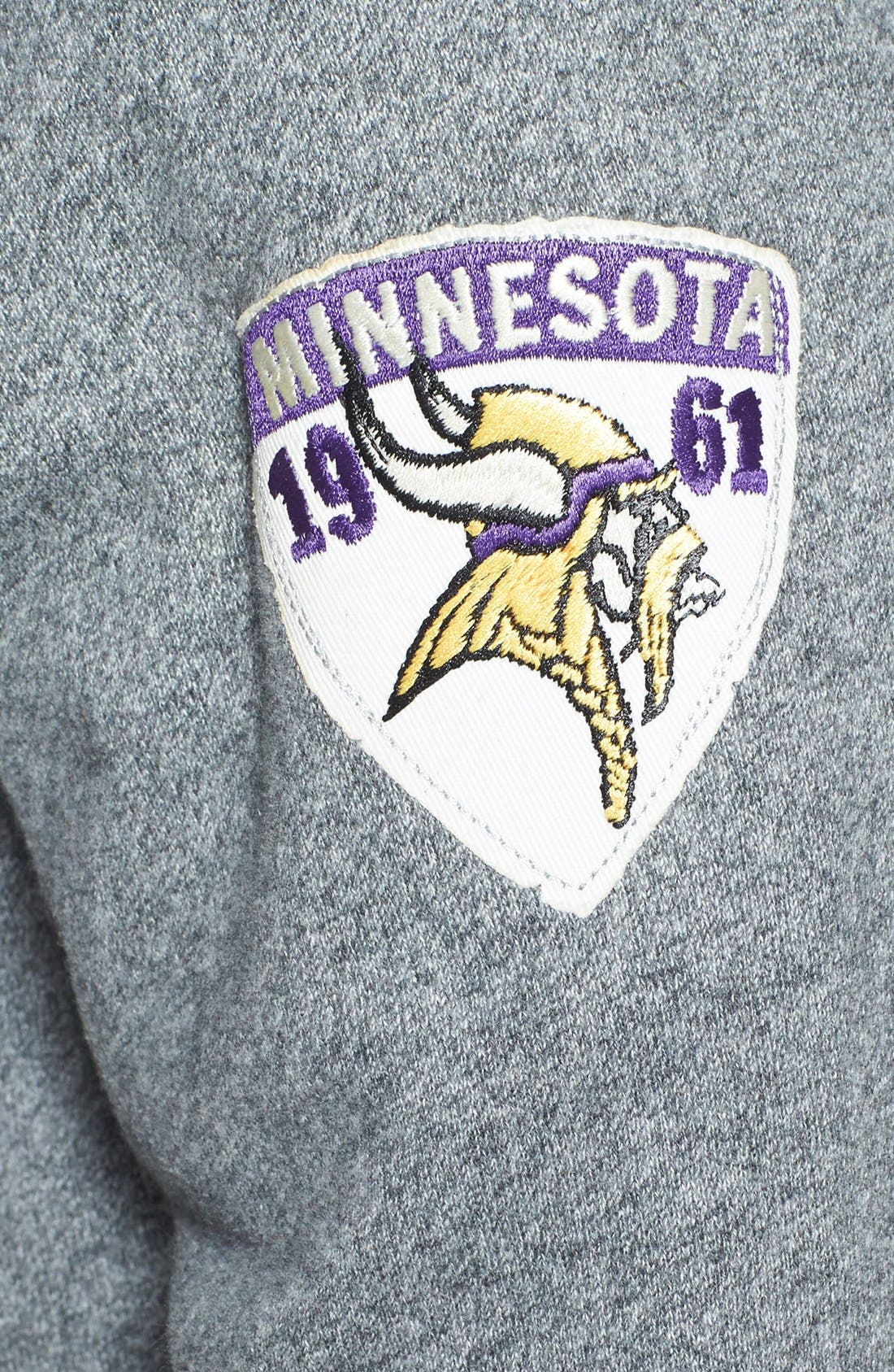 Alternate Image 3  - Junk Food 'Minnesota Vikings - Sunday' Zip Hoodie