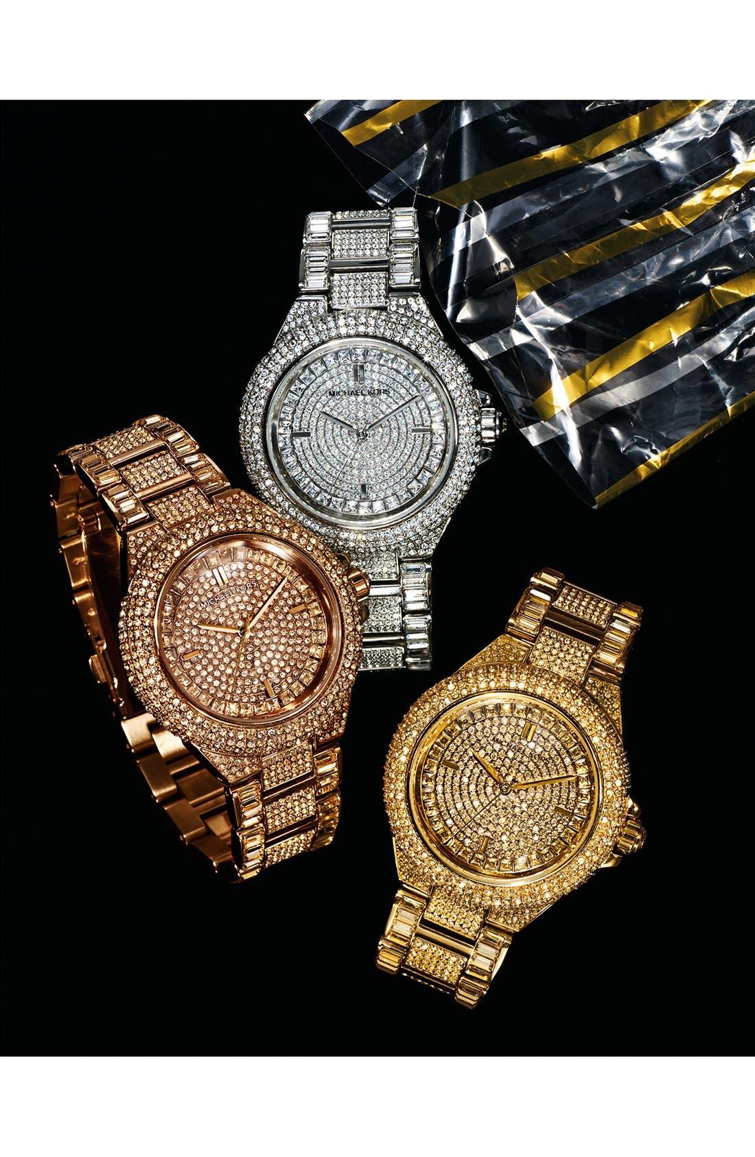 Alternate Image 6  - Michael Kors 'Camille' Crystal Encrusted Bracelet Watch, 44mm