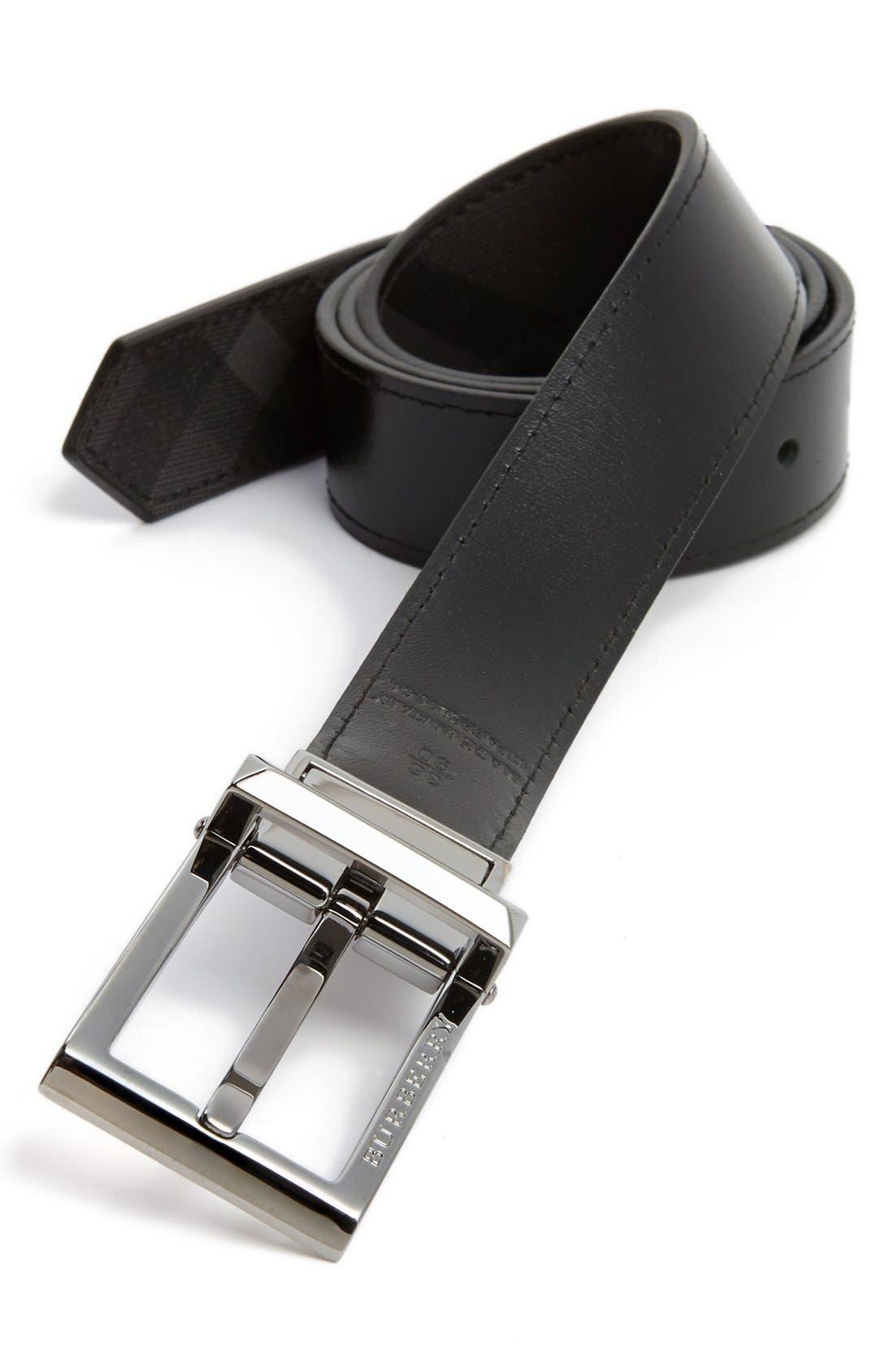 Alternate Image 2  - Burberry 'Webster' Reversible Belt