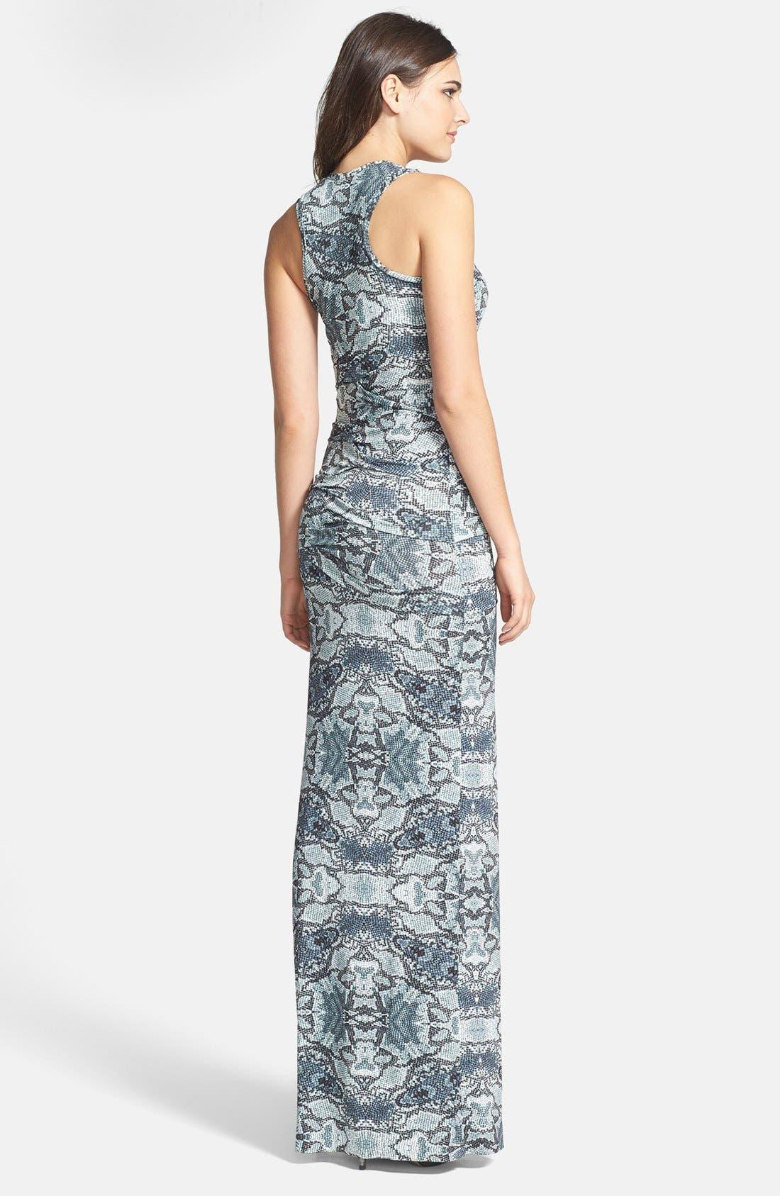 Alternate Image 2  - Nicole Miller Pleated Print Maxi Dress