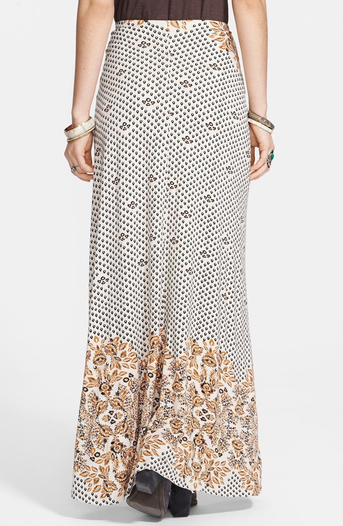 Alternate Image 2  - Free People Print Draped Knit Column Skirt