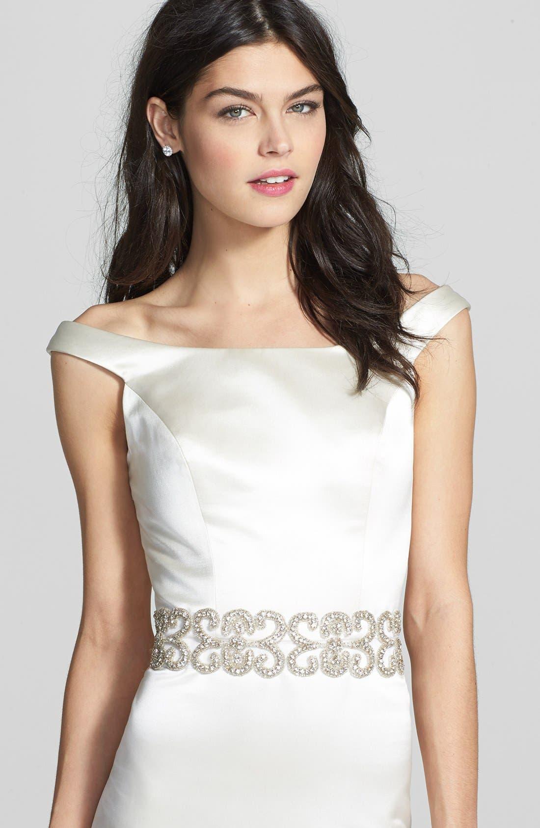 Alternate Image 1 Selected - Cara Crystal Bridal Belt