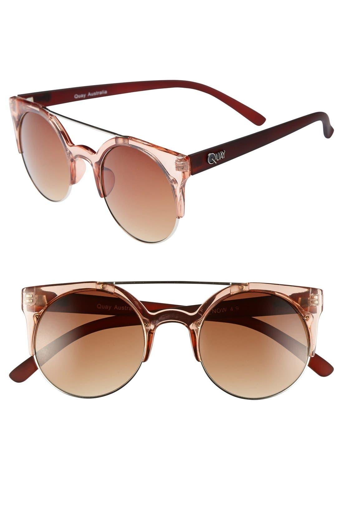 Main Image - Quay 'Livnow' 50mm Round Lens Sunglasses