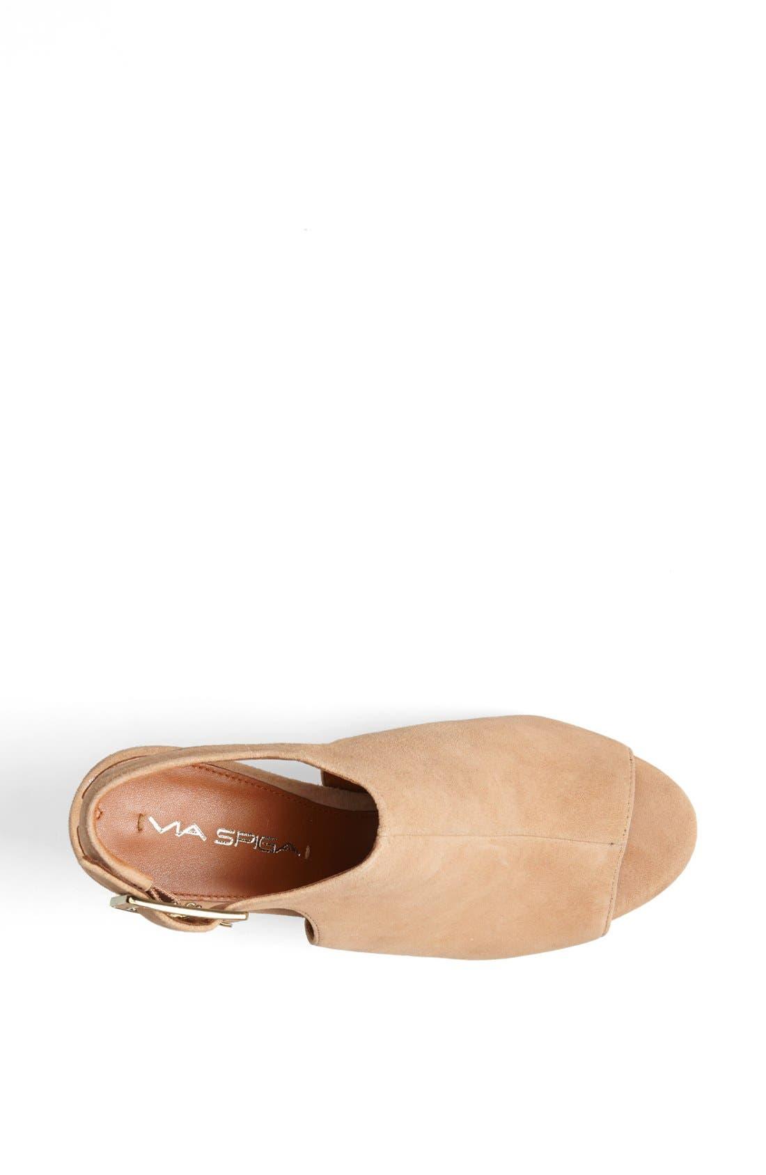 'Nino' Ankle Strap Sandal,                             Alternate thumbnail 3, color,                             Desert Suede