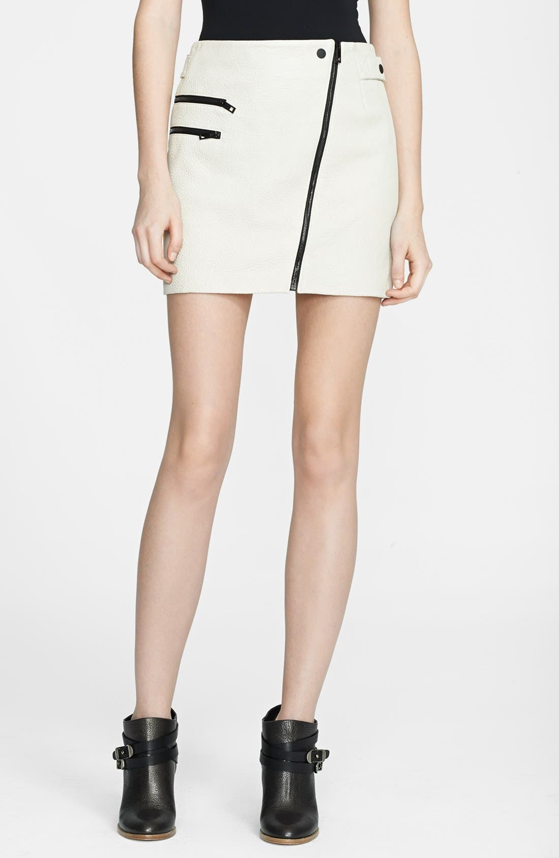 Main Image - rag & bone 'Hudson' Leather Miniskirt