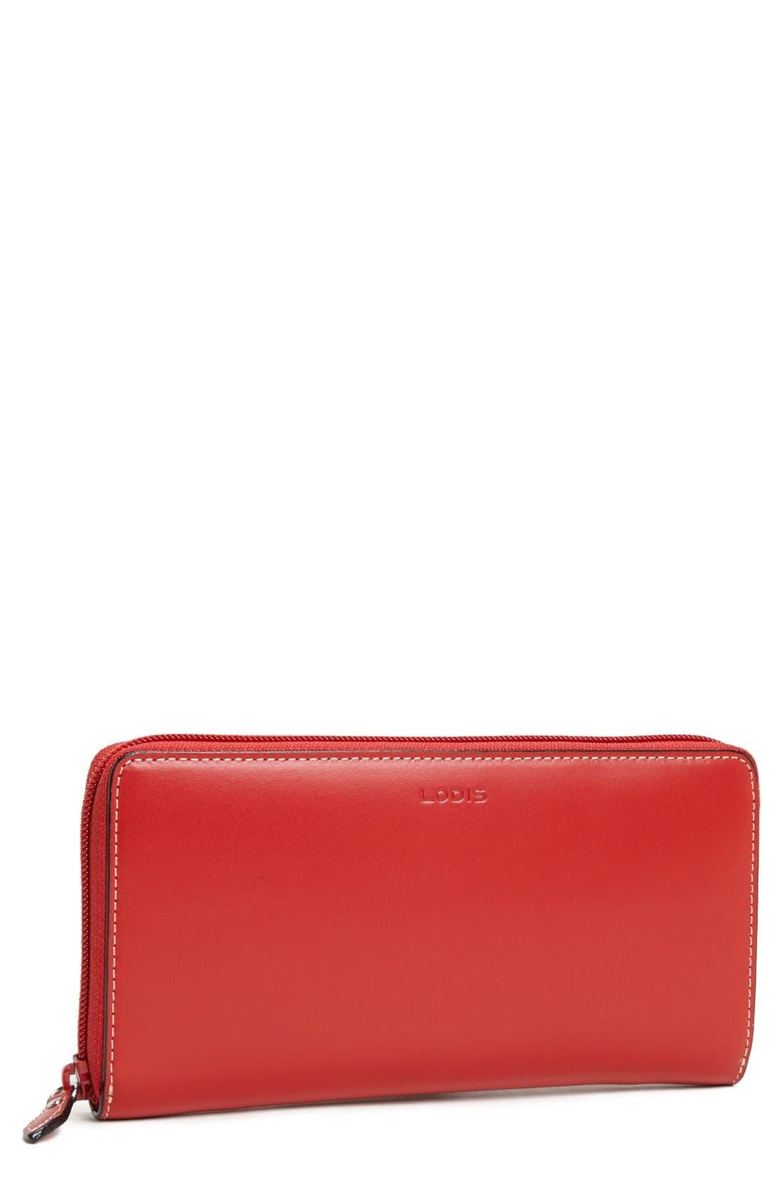 Main Image - Lodis 'Audrey Collection - Iris' Zip Around Wallet
