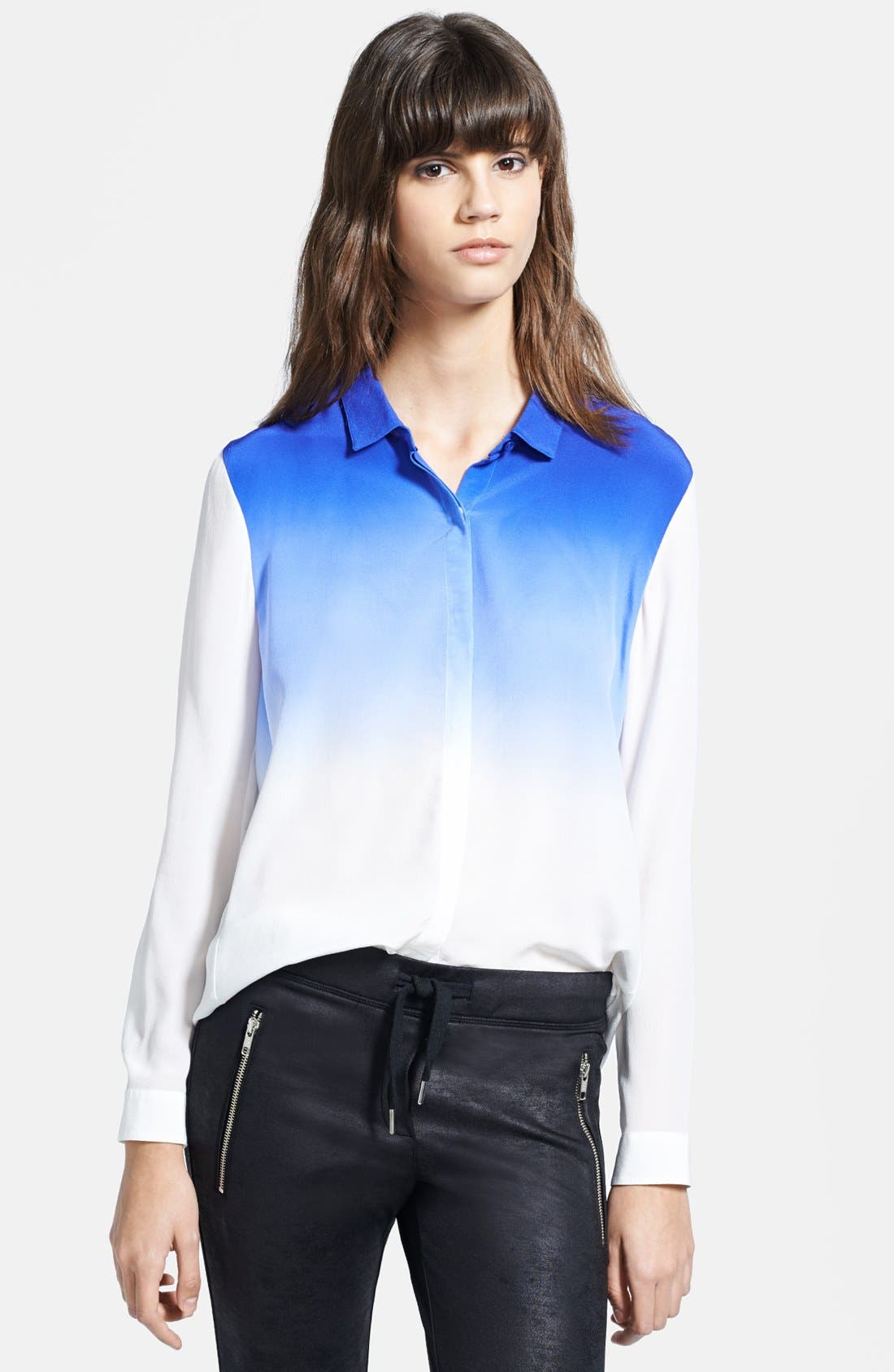 Alternate Image 1 Selected - The Kooples Tie Dye Silk Blouse