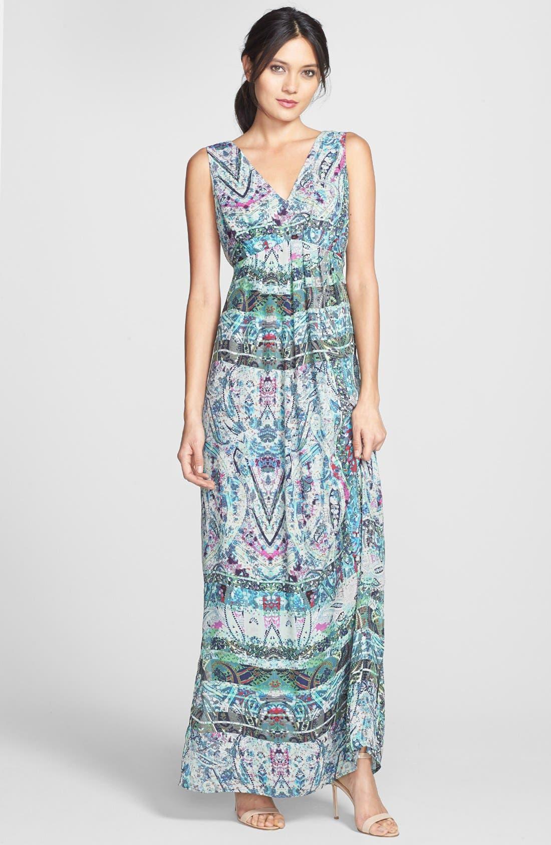 Alternate Image 1 Selected - Presley Skye Print Woven Maxi Dress