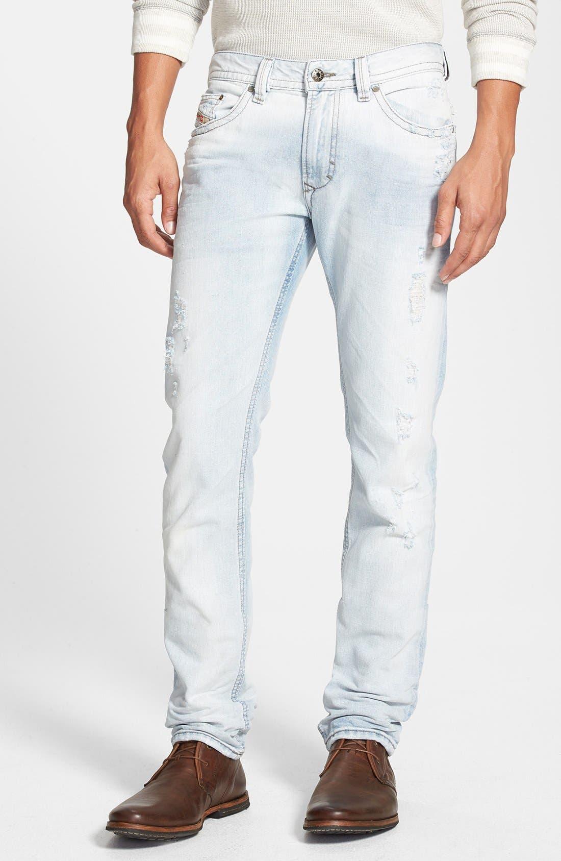 Alternate Image 1 Selected - DIESEL® 'Thavar' Skinny Fit Jeans (0825M)