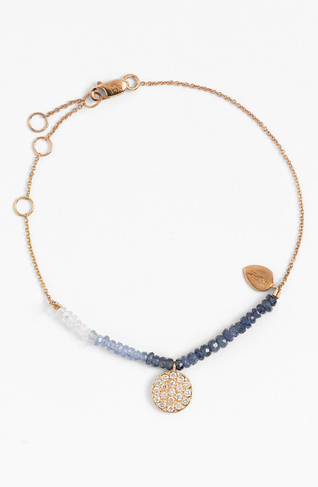 Alternate Image 1 Selected - MeiraT 'Dazzling' Diamond & Sapphire Bracelet