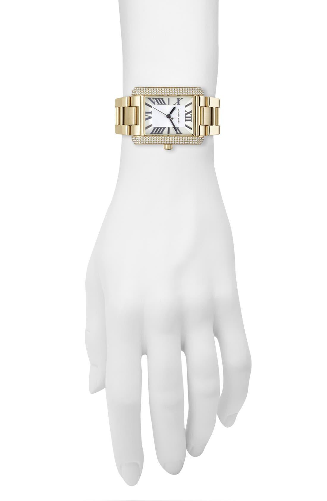 Alternate Image 2  - Michael Kors 'Emery' Crystal Accent Bracelet Watch, 31mm x 40mm