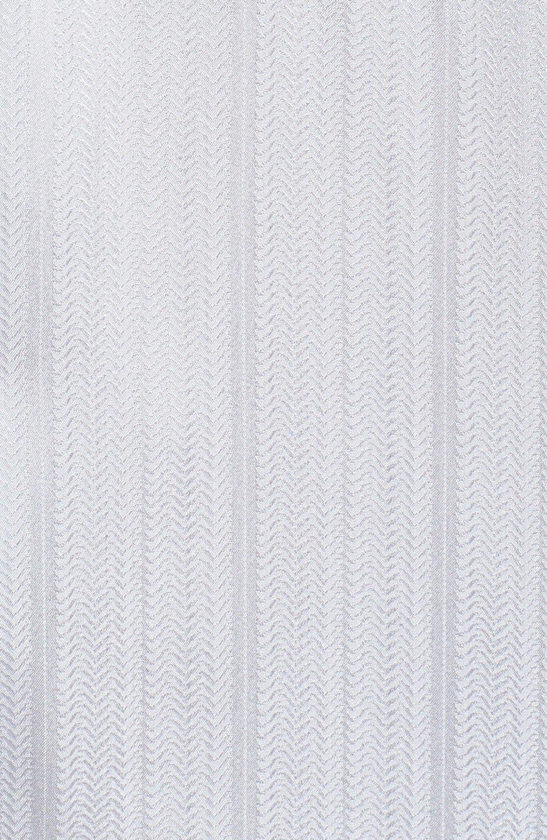 Alternate Image 2  - Majestic International Herringbone Stripe Silk Pajamas