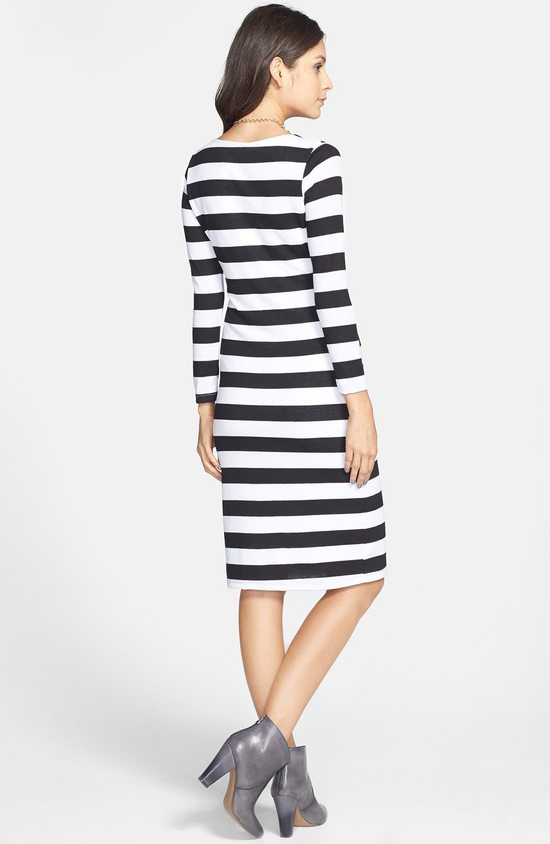 Alternate Image 2  - Minty Stripe Midi Dress (Juniors)
