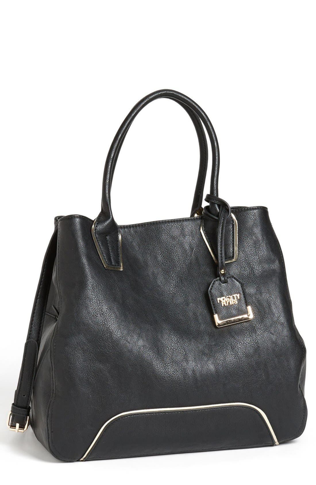 Main Image - POVERTY FLATS by rian Faux Leather Tote
