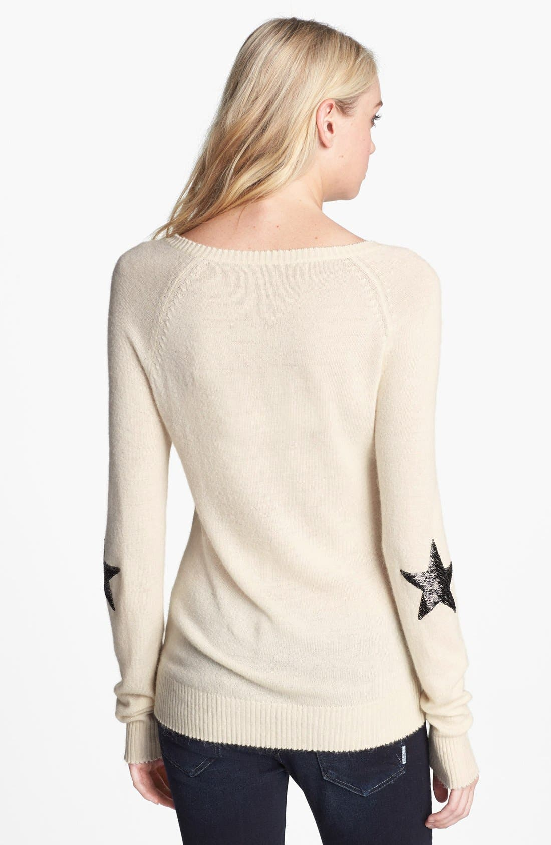 Alternate Image 2  - Wildfox 'Dream' Sequin V-Neck Knit Sweater