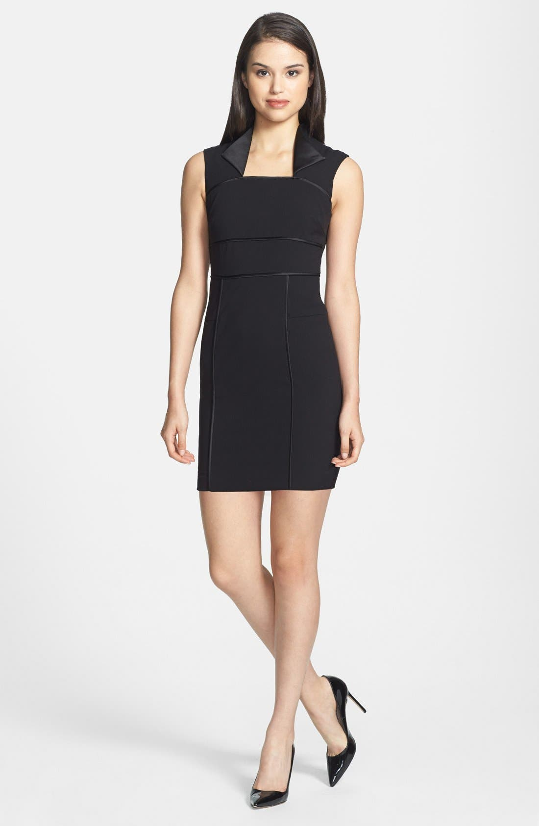 Alternate Image 1 Selected - Marc New York by Andrew Marc Stretch Sheath Dress (Petite)