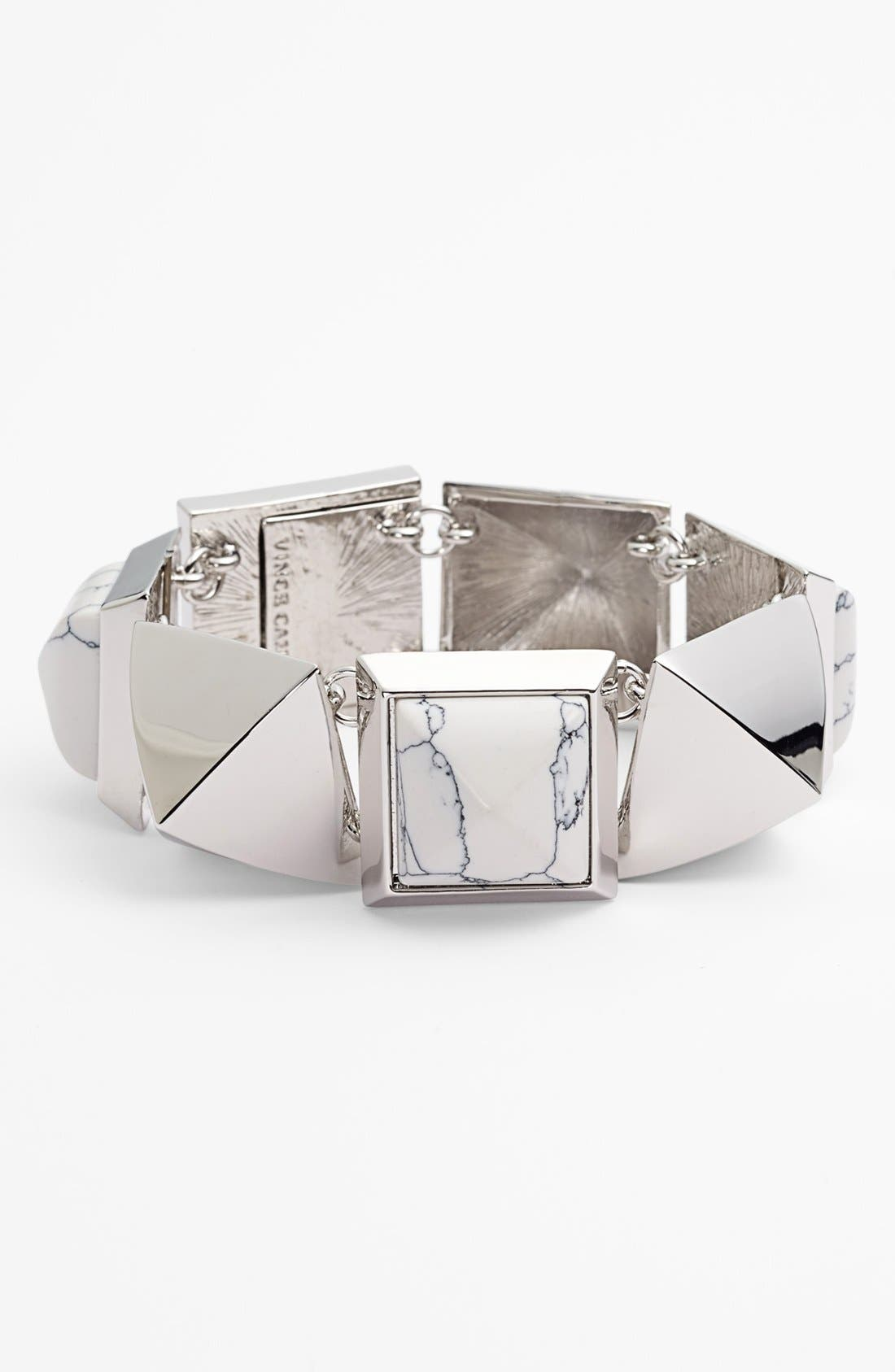 Alternate Image 1 Selected - Vince Camuto 'Clearview' Pyramid Bracelet
