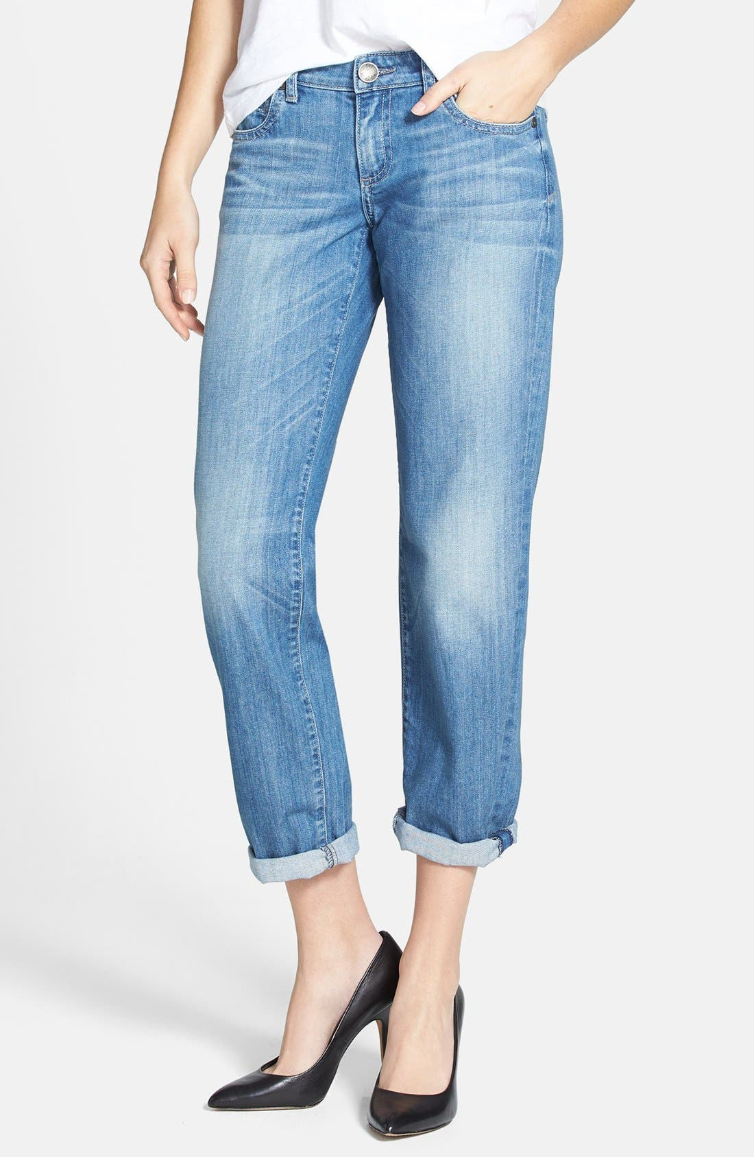 Main Image - KUT from the Kloth 'Catherine' Slim Boyfriend Jeans (Exceptional) (Regular & Petite)