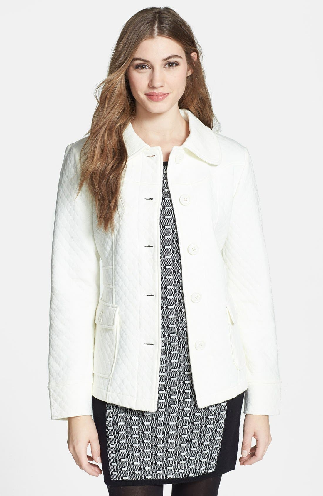 Alternate Image 1 Selected - Sugarfly Quilted Knit Coat