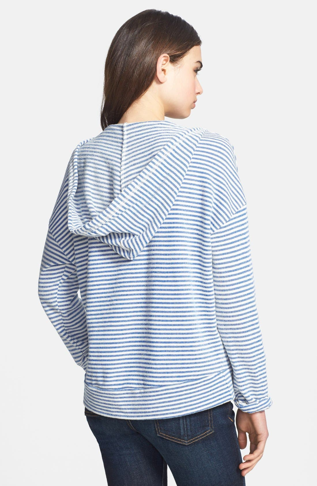 Alternate Image 2  - Soft Joie 'Evita' Stripe Cotton Hoodie