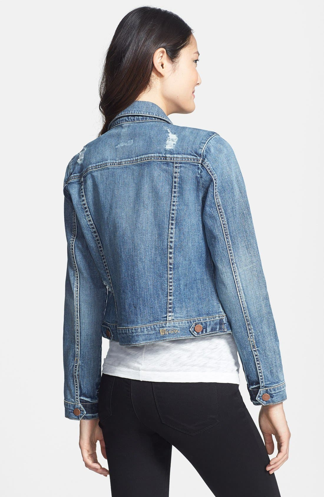 Alternate Image 2  - KUT from the Kloth 'Amelia' Destructed Denim Jacket