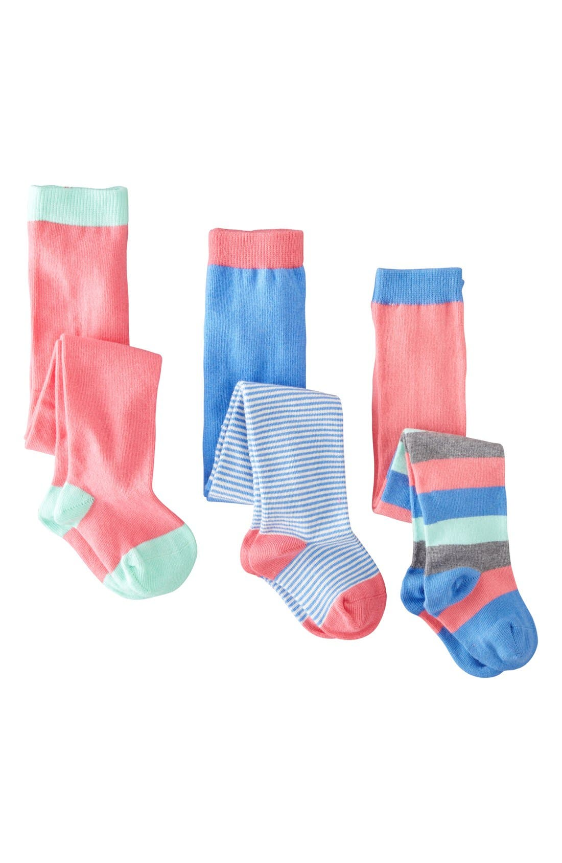 Alternate Image 1 Selected - Mini Boden Patterned Tights (3-Pack) (Baby Girls & Toddler Girls)