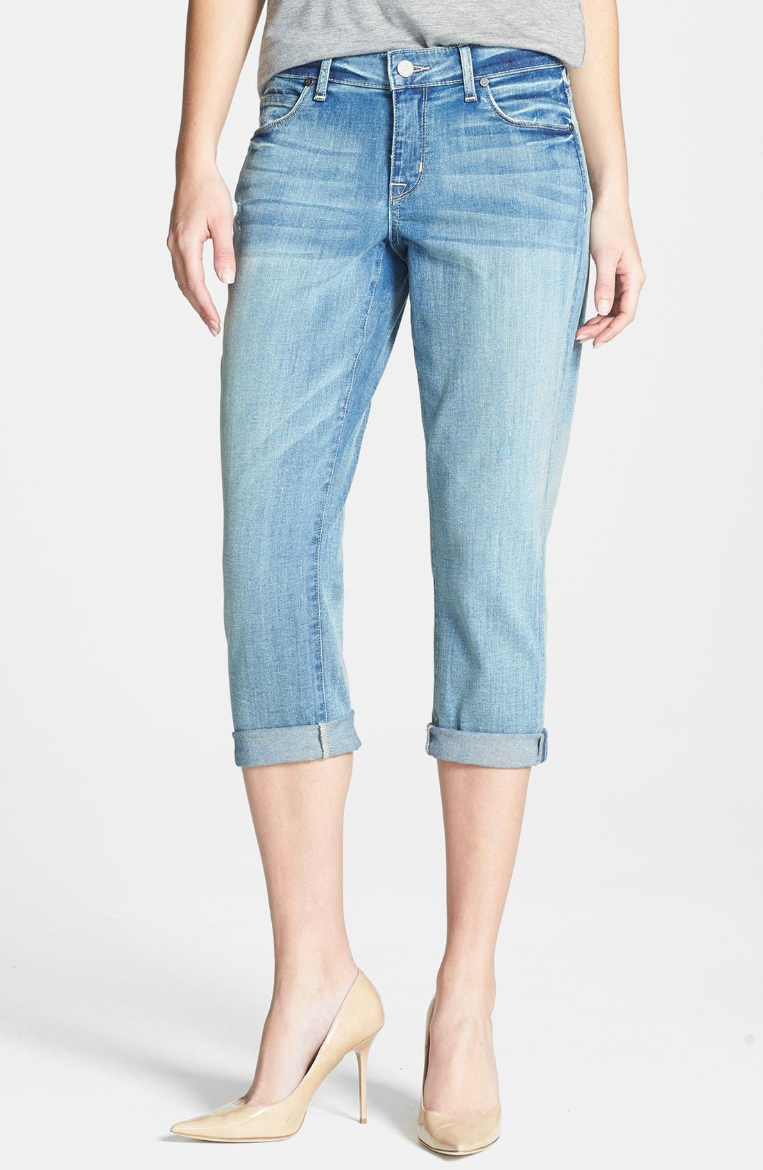 Alternate Image 1 Selected - CJ by Cookie Johnson 'Rejoice' Stretch Crop Boyfriend Jeans (Simpson)