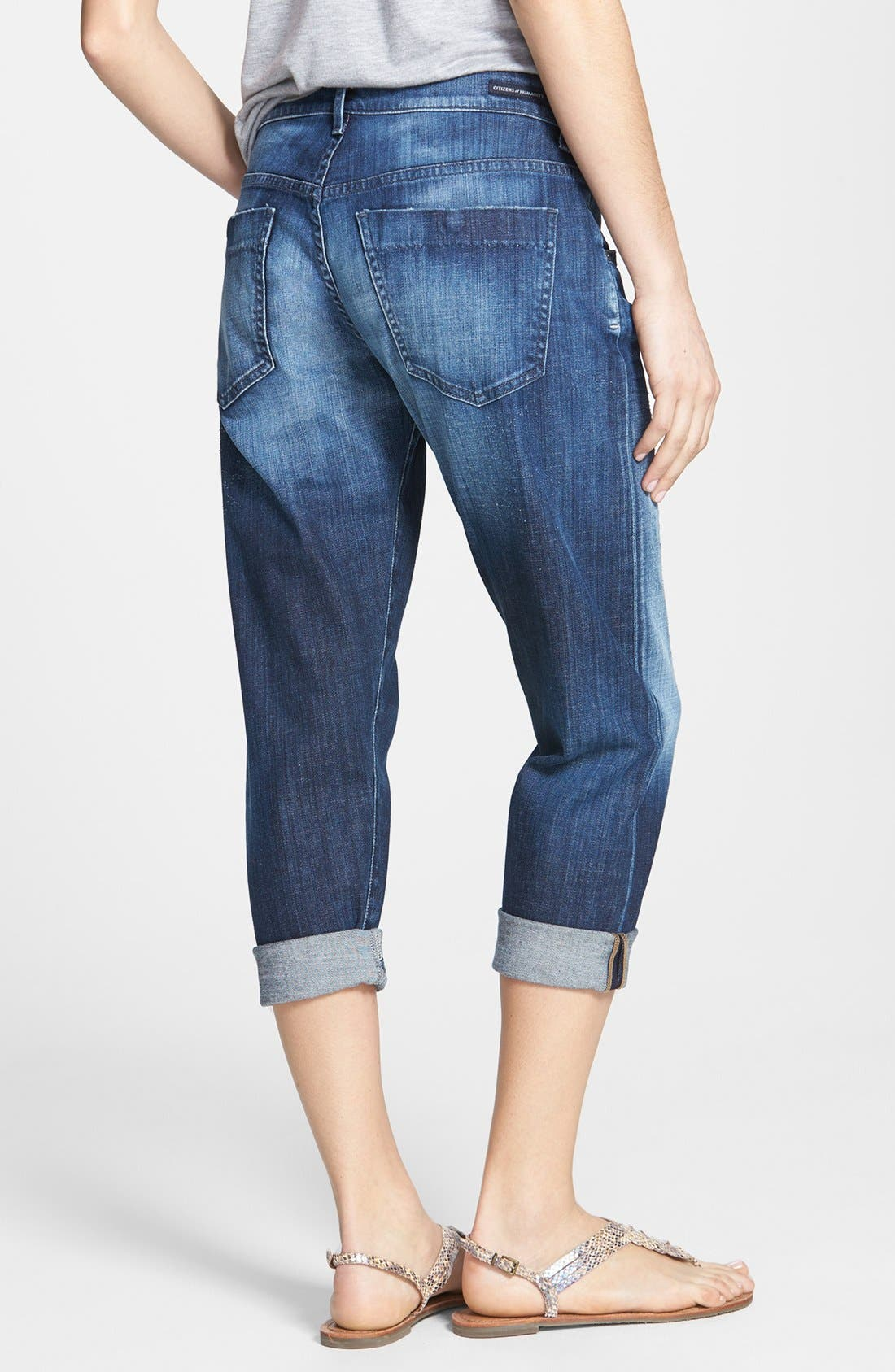 'Skyler' Crop Boyfriend Jeans,                             Alternate thumbnail 2, color,                             Vista