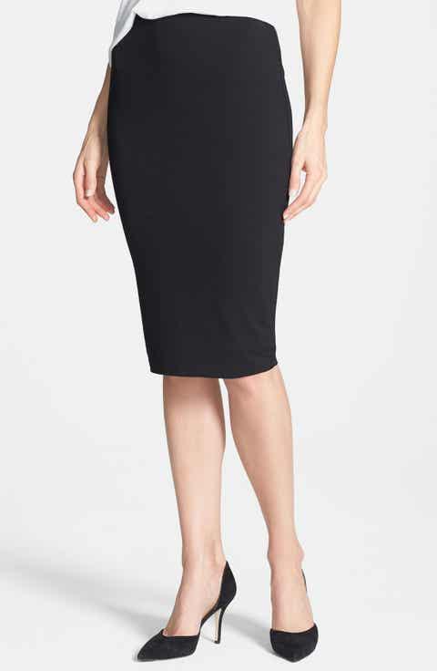 Vince Camuto Stretch Knit Midi Tube Skirt (Petite) Best Price