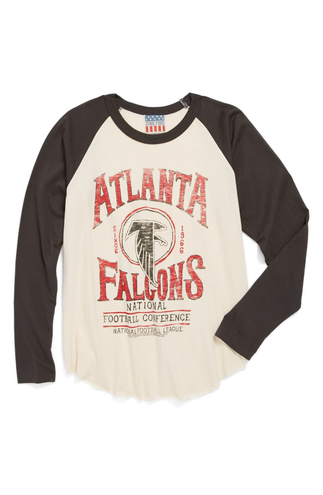 Main Image - Junk Food 'Atlanta Falcons' Raglan Long Sleeve T-Shirt (Toddler Boys)