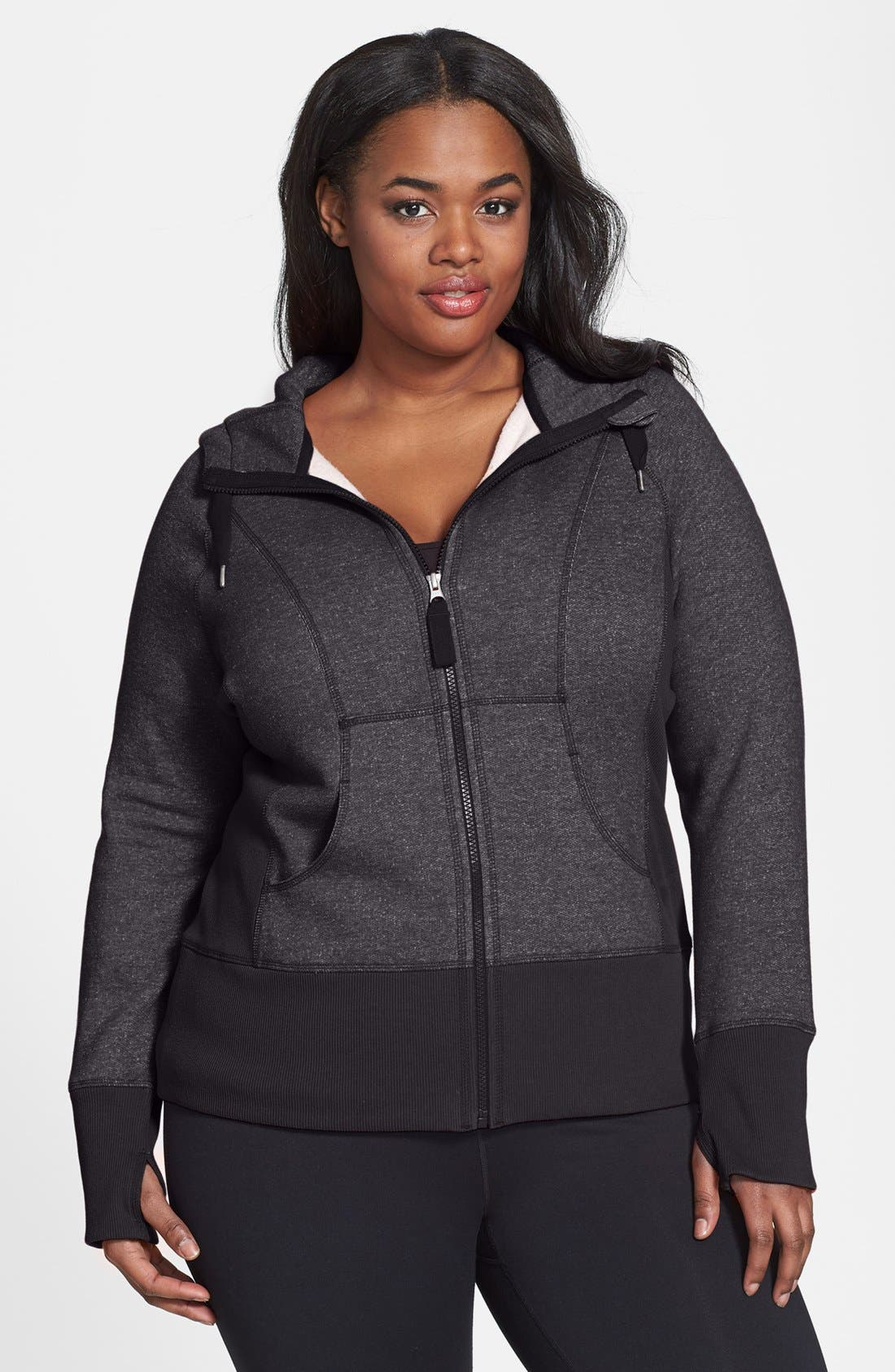 Alternate Image 1 Selected - Zella 'Essential' Hoodie (Plus Size)