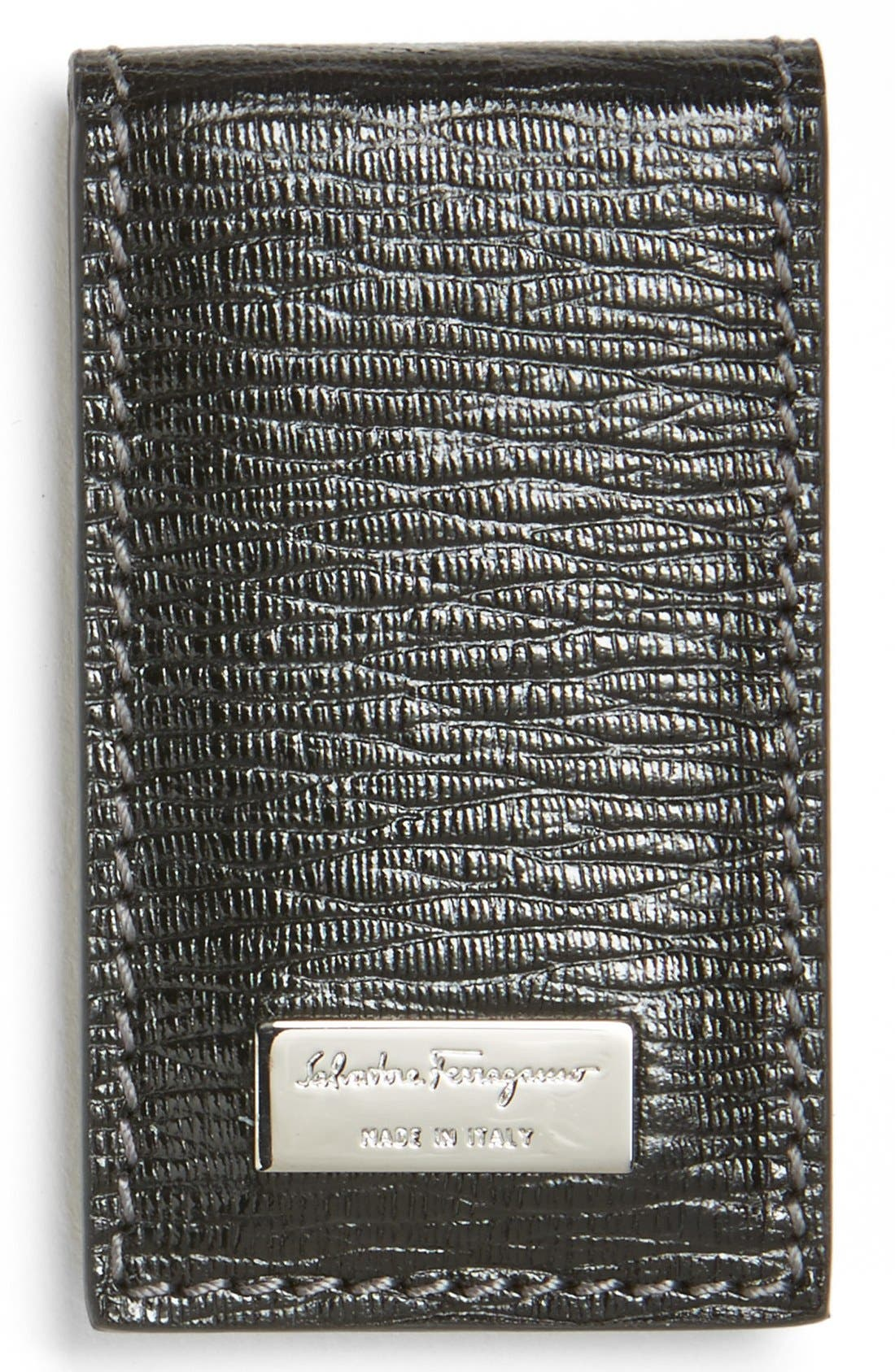 Main Image - Salvatore Ferragamo Stamped Calf Magnetic Money Clip
