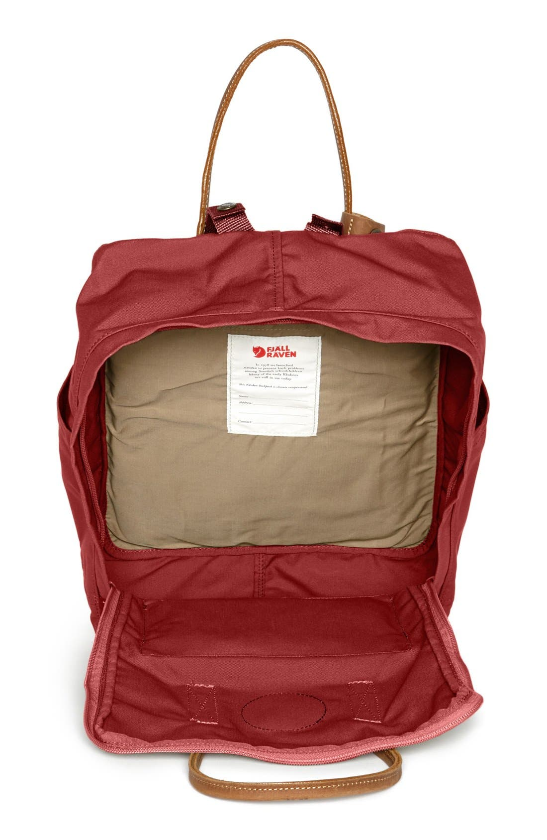 'Kånken No. 2' Backpack,                             Alternate thumbnail 3, color,                             Deep Red