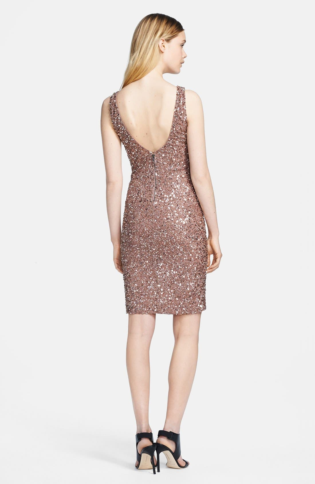 Alternate Image 2  - Alice + Olivia 'Kimber' Sleeveless Bead Embellished Dress