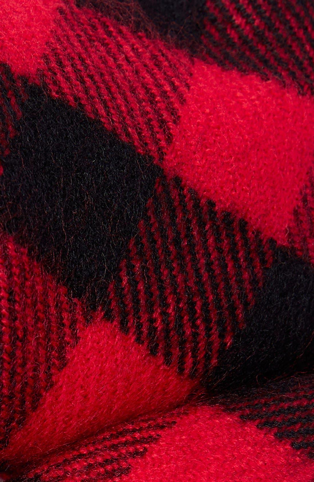 Alternate Image 2  - Topman Buffalo Check Knit Scarf