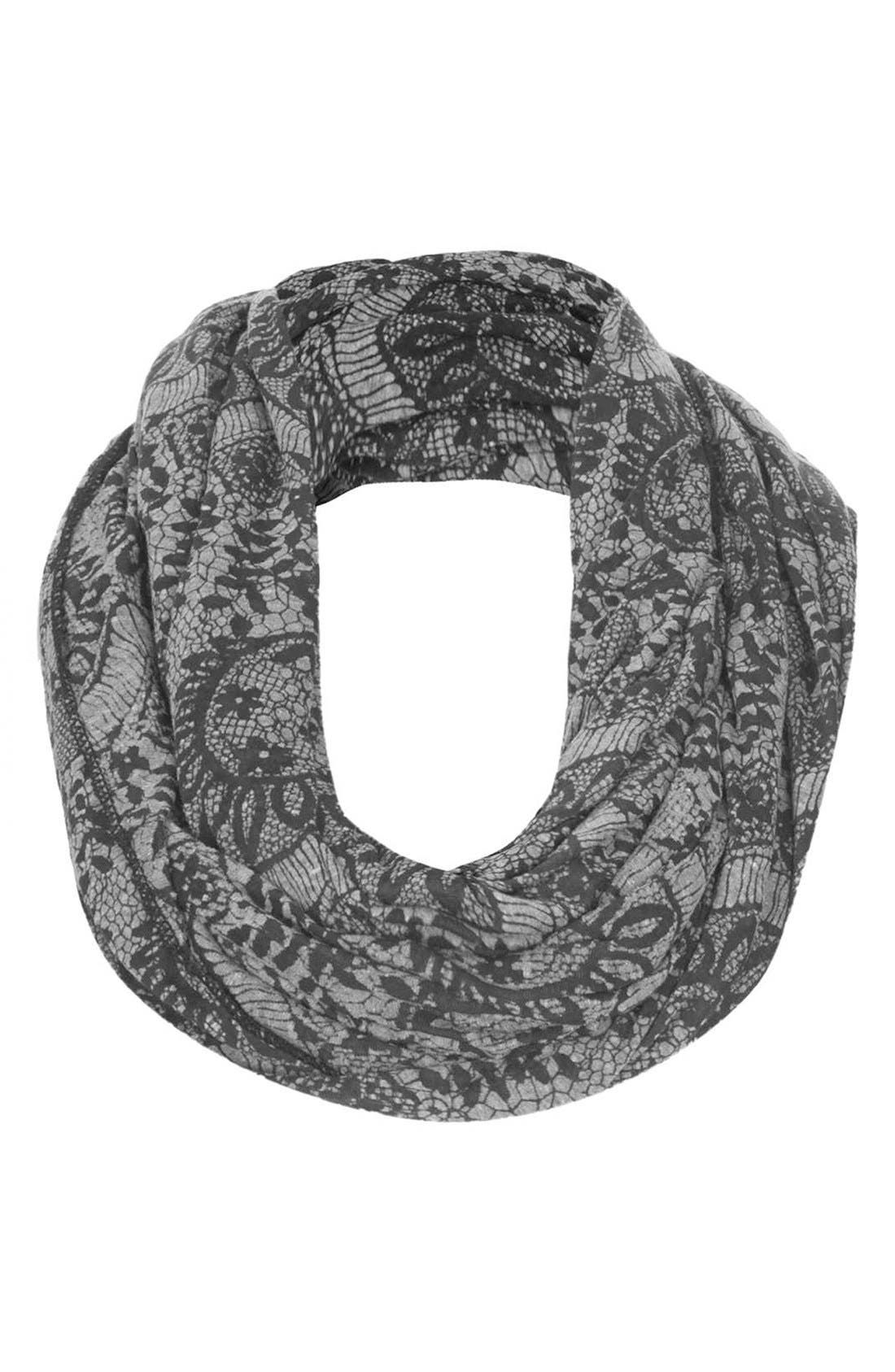 Alternate Image 1 Selected - Topshop Lace Burnout Snood