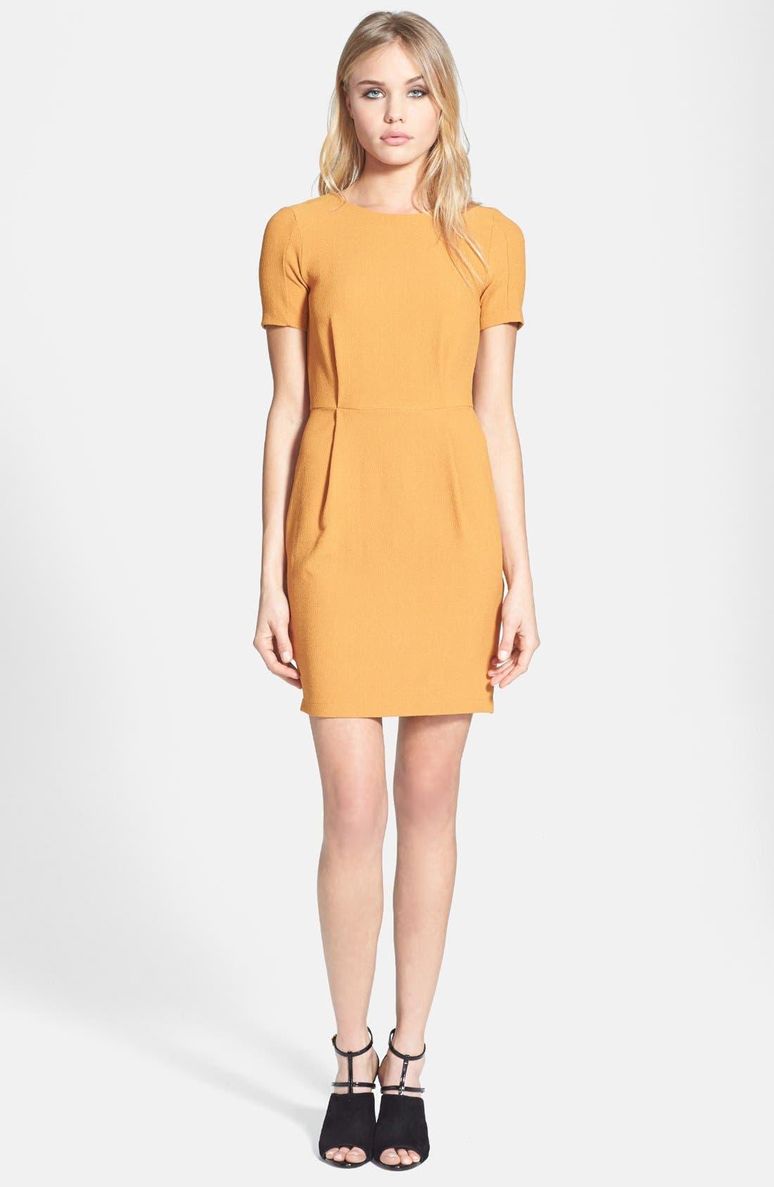 Alternate Image 1 Selected - Topshop 'Elfin' Crepe Sheath Dress