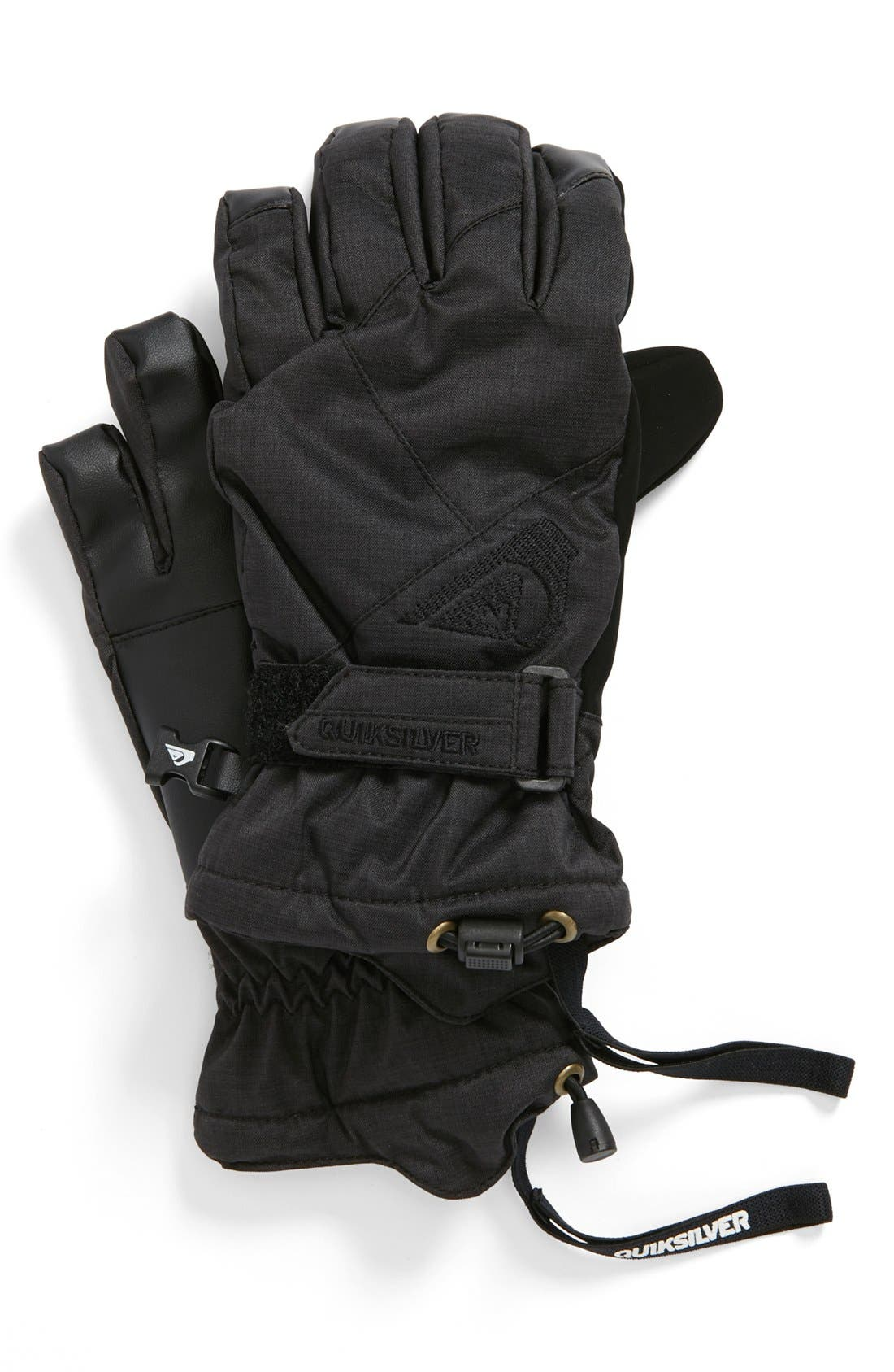 Main Image - Quiksilver 'Meteor Youth' Gloves (Big Boys)